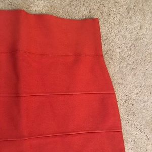 BCBG Orange Simone bandage skirt